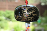 Ceramic Wind Chime, Black Orchid, 7cm